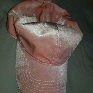 Pink velvet cap